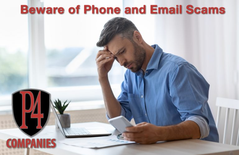 P4 Companies Beware of Phone and Email Scams